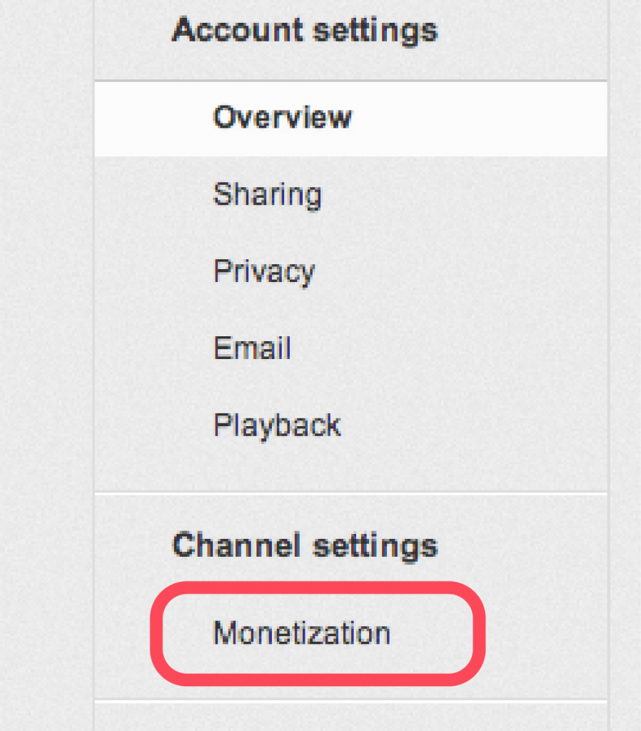 Monetize Youtube