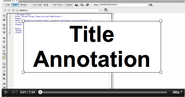 annotation of title
