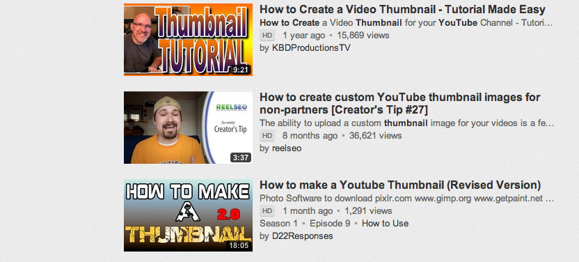 how to create high quality youtube thumbnails